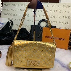 CAROLINA HERRERA gold shoulder bag